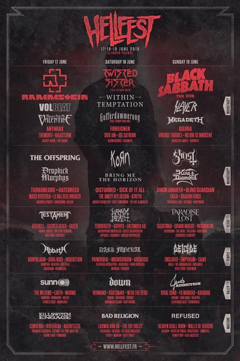 HellFest 2016 cartel